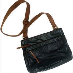 Vintage Leather Fossil Side Purse Shoulder Bag